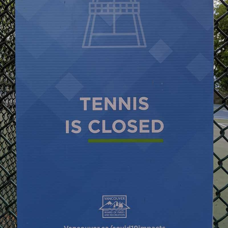 Tennis is closed