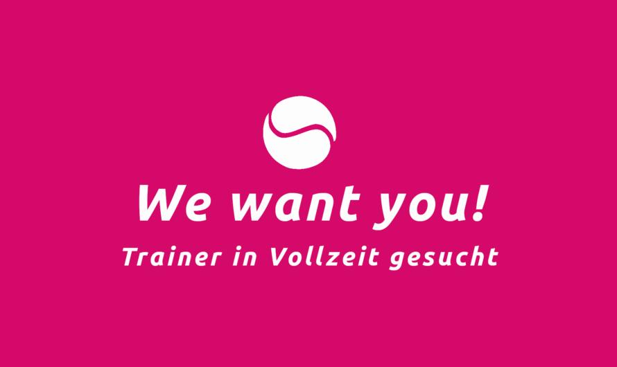 Update: Stellenanzeige – Trainer in Vollzeit gesucht